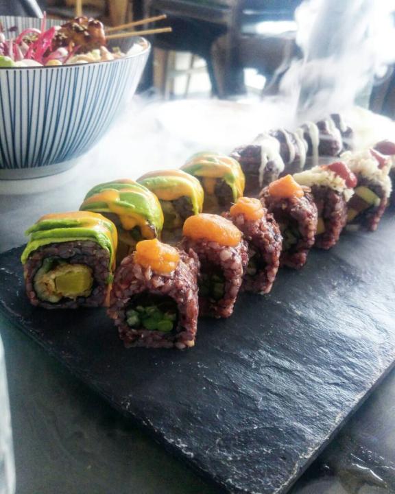 veganes Sushi im Secret Garden.
